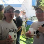 The Oregon Brewer Crew's Bill Schneller (left) and Rock Bottom Brewmaster Charlie Hutchins