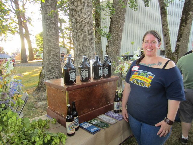 Brewer Jennifer Kent of McMenamins Thompson Brewery with unique brews