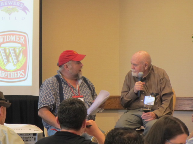 John Foyston (left) and Fred Eckhardt at the 2011 Beer Bloggers Conference