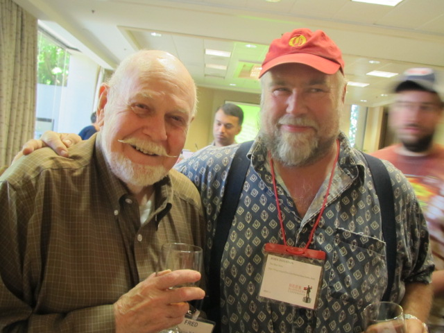 Fred Eckhardt (left) and John Foyston at 2011 Beer Bloggers Conference in Portland, Oregon