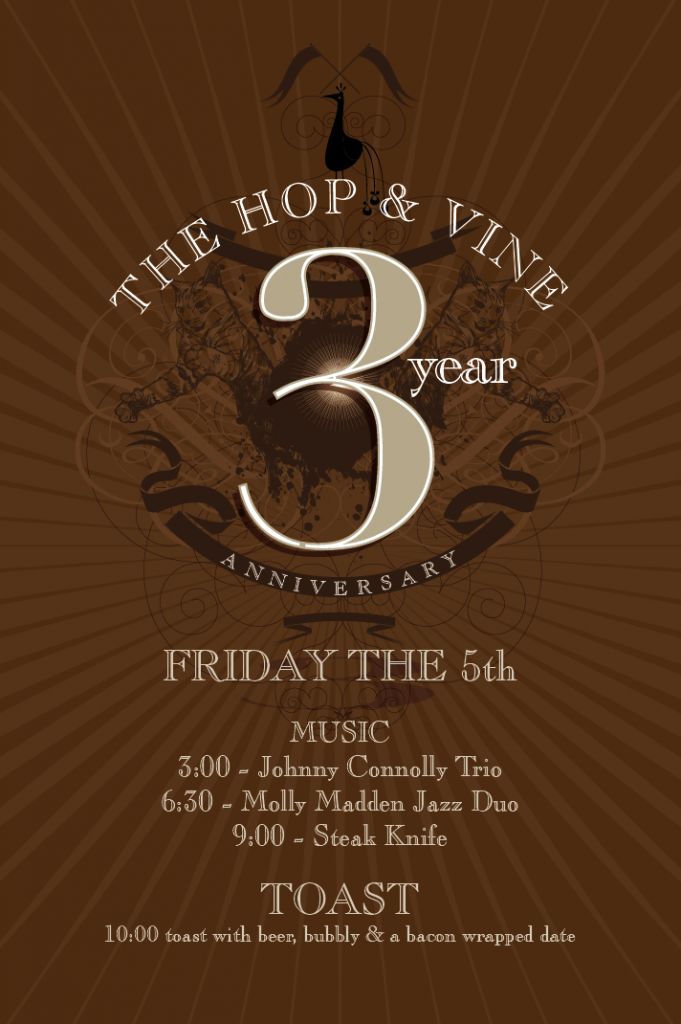 The Hop & Vine 3rd Anniversary