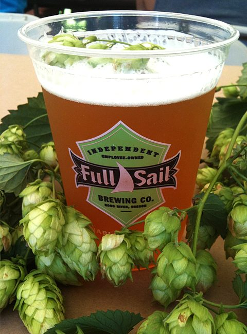 Full Sail Lupulin with fresh hops