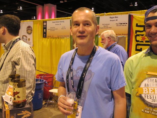 Rogue Ales president Brett Joyce at 2011 GABF