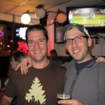Jason Wallace of Portland Beer &amp; Music (left) with Angelo of Brewpublic