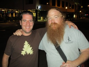 Jason Wallace of Portland Beer & Music blog (left) with Charles Culp of An Ear For Beer blog