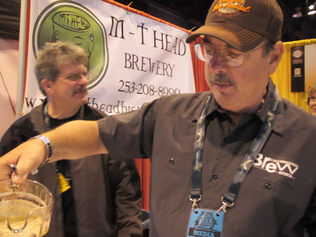 MT Head brewers Tim Rockey (left) and Marc Martin at 2011 GABF