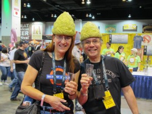 Amy and Carl Singmaster of Belmont Station represent Beervana at 2011 GABF