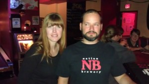 Natian Brewery's Natalia Laird and Ian McGuinness at their 2nd Anny party at EastBurn