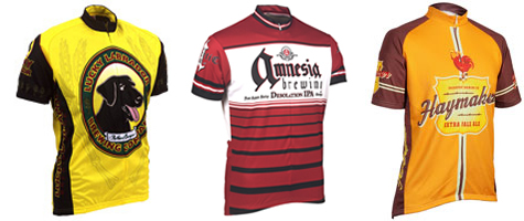 Craft Beer Bike Jerseys from Lucky Lab, Amnesia and Bridgeport
