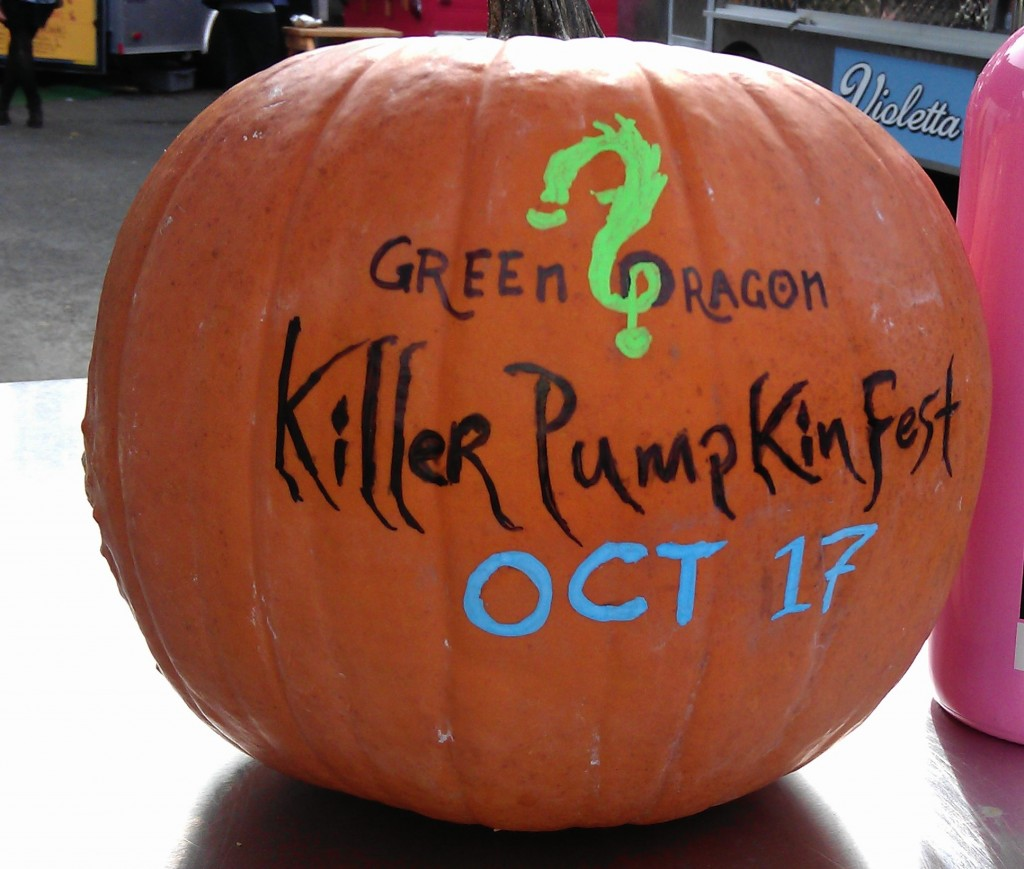 Killer Pumpkin Fest takes place at The Green Dragon on October 17, 2011