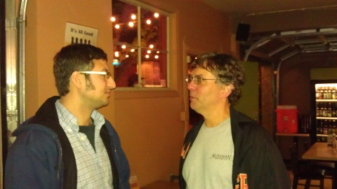 Upright's Alex Ganum (left) and Belmont Station's Carl Singmaster
