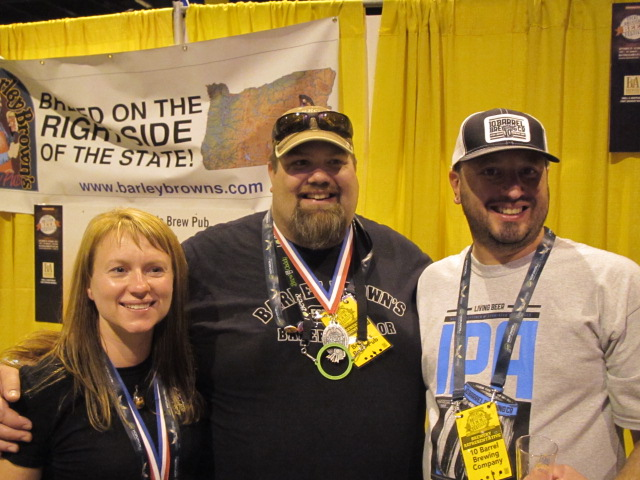 Oregon 10 Barrel Brewing Brewmaster (L to R): Tonya Cornett,  Shawn Kelso, and Jimmy Seifrit