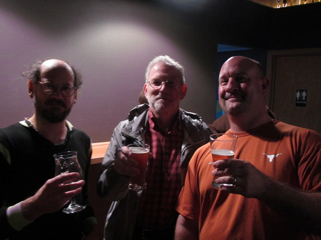 Stewart, Terry, and John enjoy brews at By The Bottle's Killer Washington Beer Night