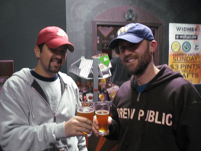 Mt Tabor founder/brewer Eric Surface (left) and Brewpublic's Dan Culver at Killer Washington Beer Night at By The Bottle