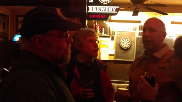 John Foyston, Fred Bowman, and Jerry Fechter at the Horse Brass' 35th Anniversary celebration