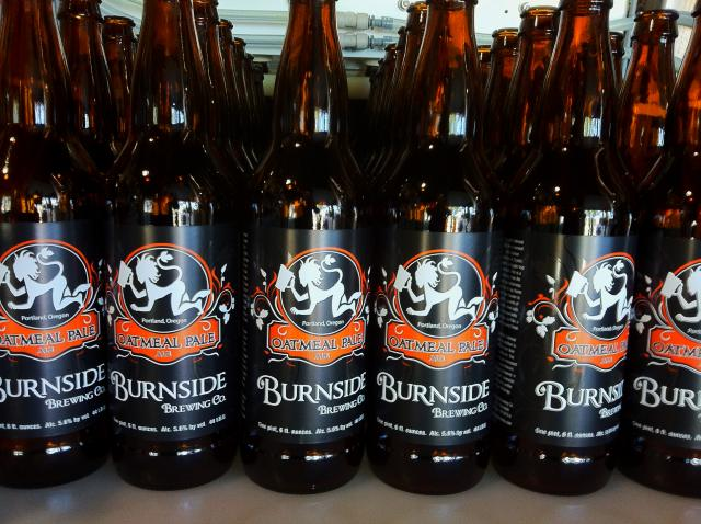 First run of Burnside Brewing Co's bottles - their Oatmeal Pale Ale