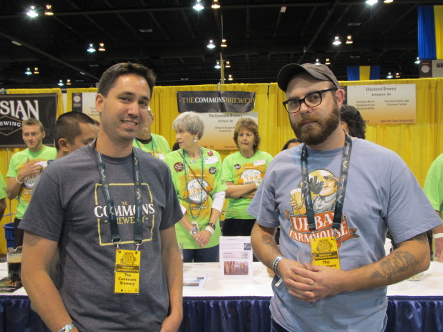The Commons brewers Mike Wright (left) and Sean Burke at GABF