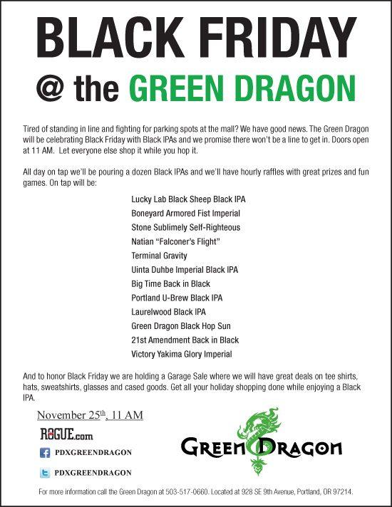 Black Friday at Green Dragon 11/25/2011