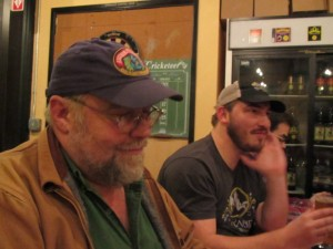 John Foyston and Ezra Johnson-Greenough partake in Lompoc's media tasting
