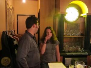 Lompoc brewers Bryan Keilty (left) and Irena Bierzynski
