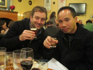 Jeremy Lewis (left) and Quyen Ly of Roscoe's Pub