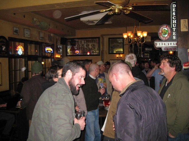 More and more brewers at PCTBB dart toss at Horse Brass Pub