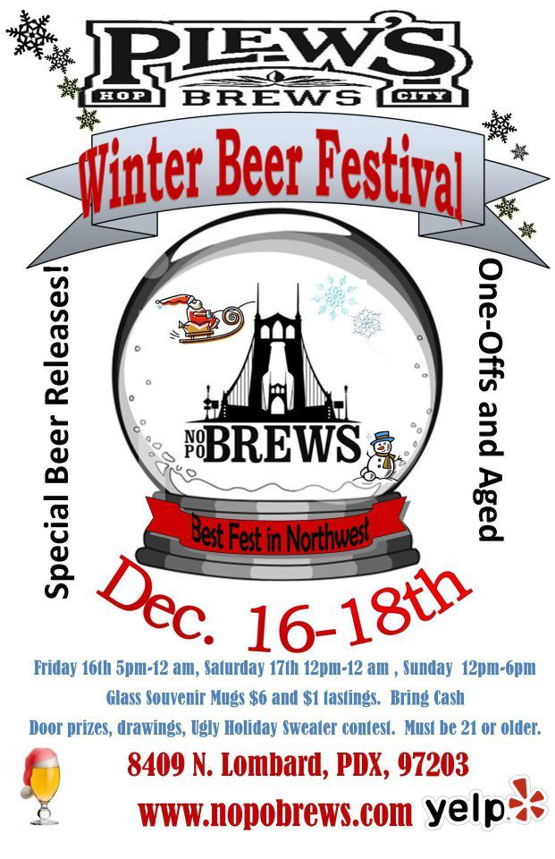 Plew's Brews Winter Beer Festival December 16-18, 2011
