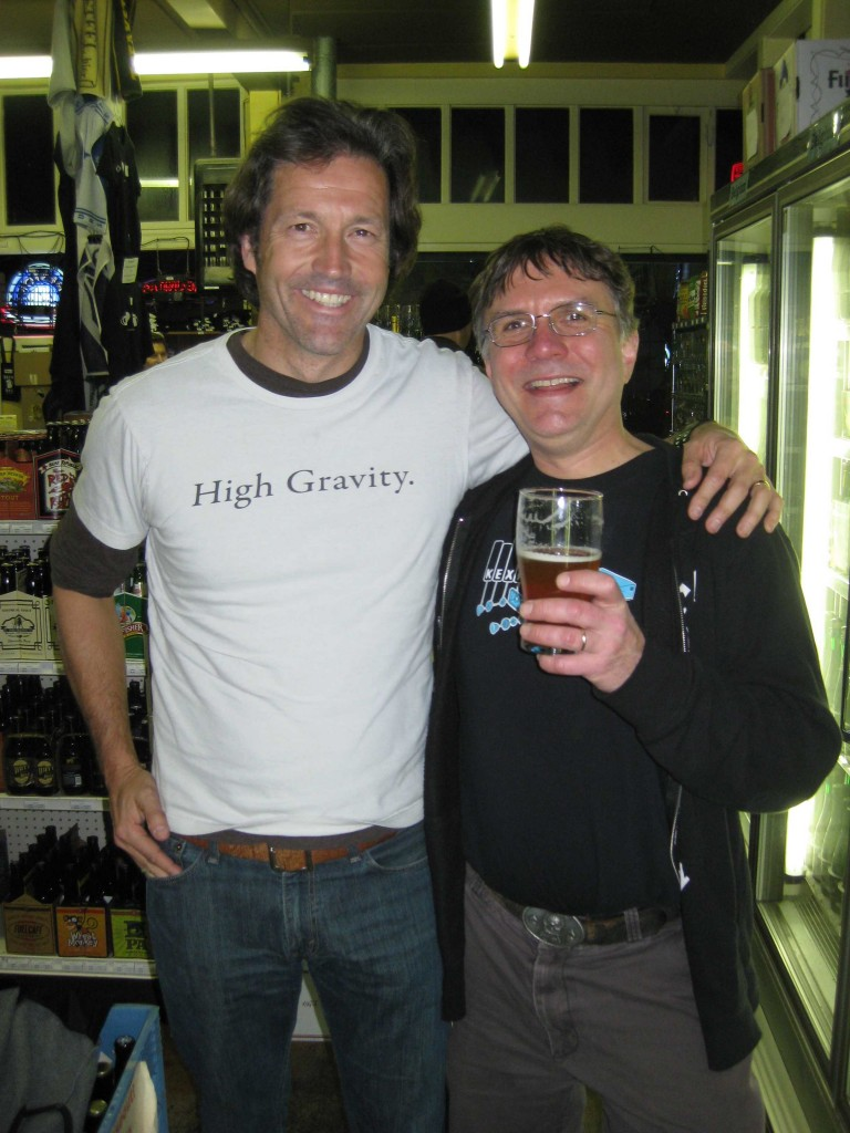 Firestone Walker co-founder David Walker (left) and Belmont Station proprietor Carl Singmaster