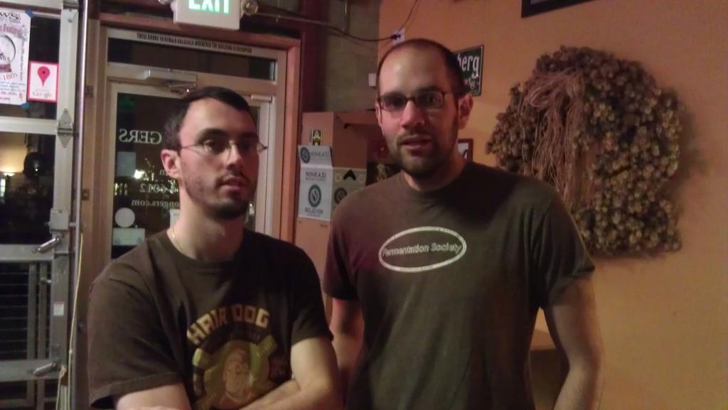 BeerMongers Sam (left) and Josh