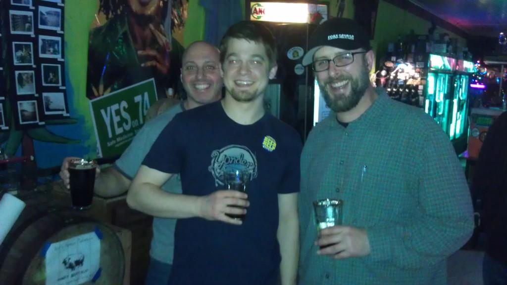 Plews Brews Winter Beer Fest (l to r: Dave, Gene, and Trevor)