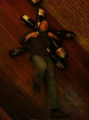 Preston Weesner with Big Bottles at Saraveza (photo courtesy of Jonathan Carmean)