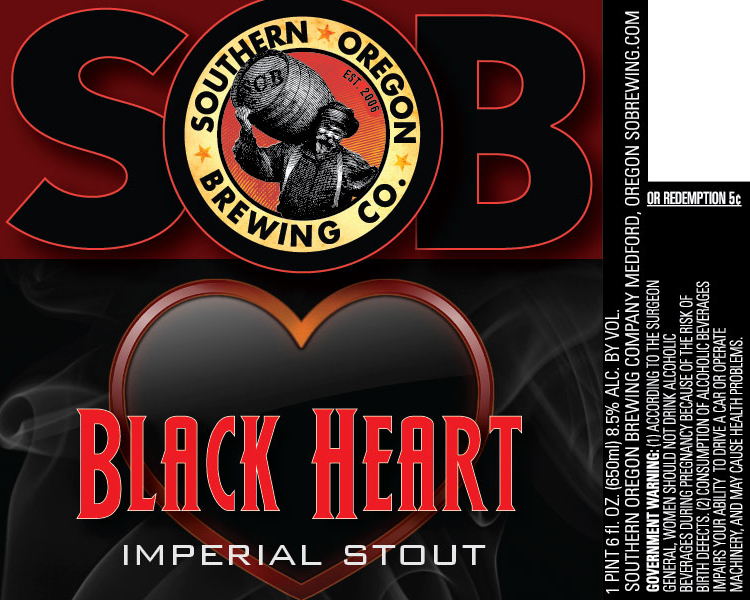 Southern Oregon Brewing Black Heart Imperial Stout