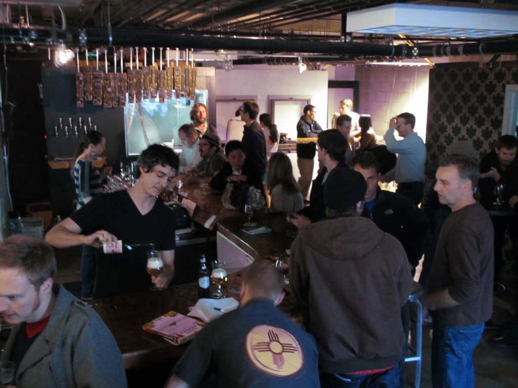 Crowd at City Beer Store in San Francisco, CA