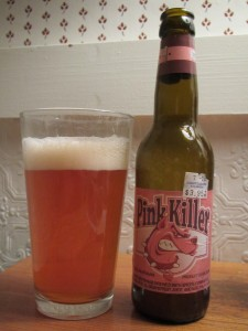 Pink Killer beer with grapefruit juice and spices