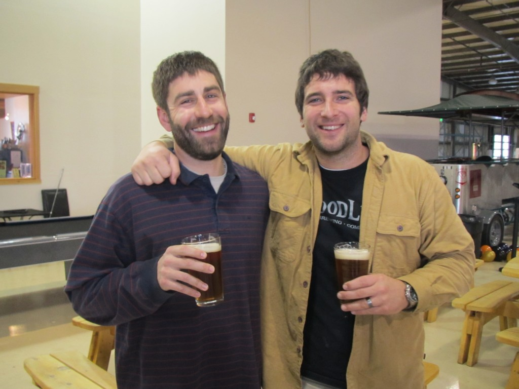 Chris Nelson (left) and brewmaster Curt Plants of GoodLife Brewing in Bend, OR