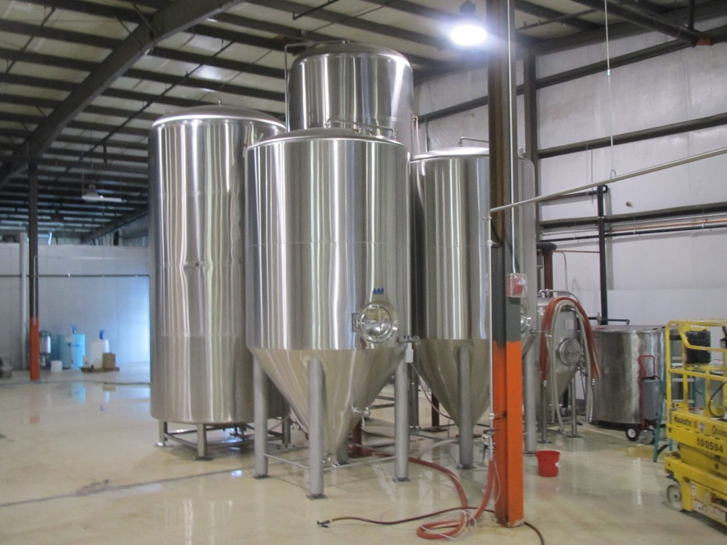 Fermentors at GoodLife Brewing in Bend, OR
