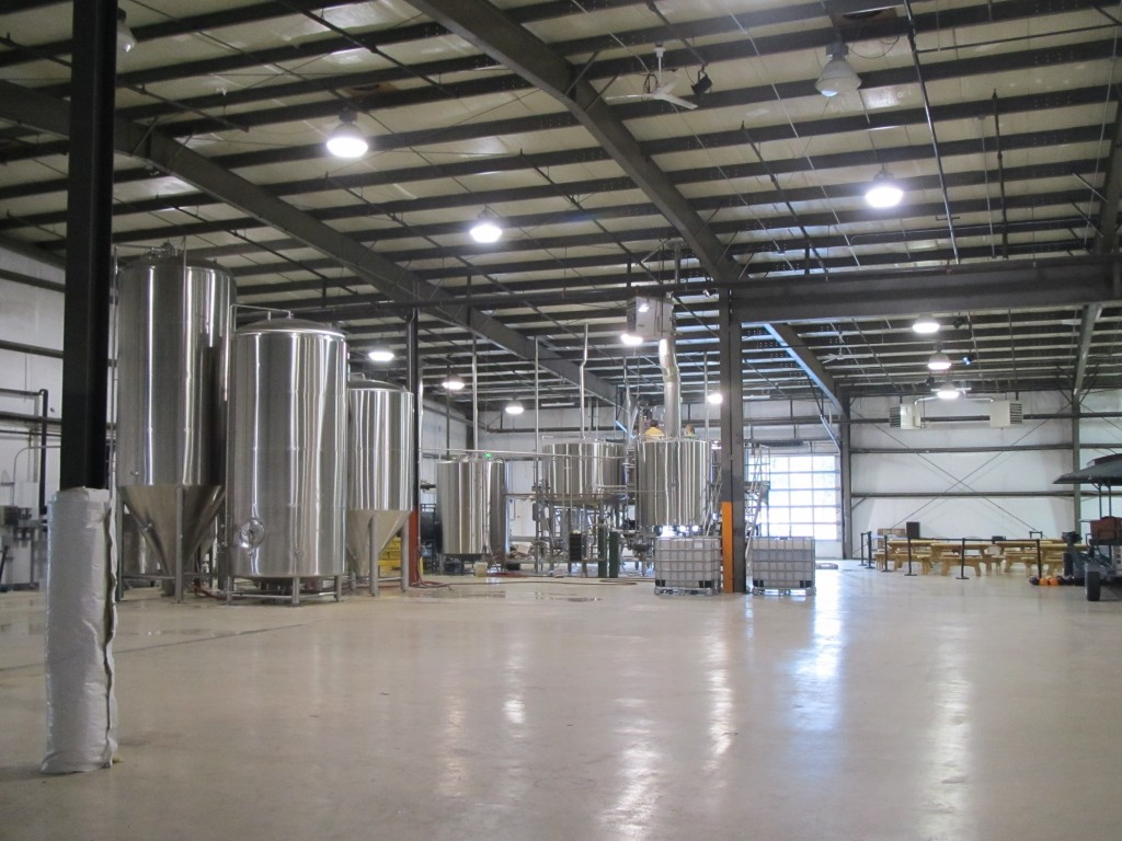 Giant warehouse quarters at GoodLife Brewing of Bend, OR