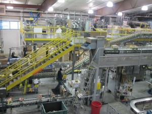 Deschutes Brewery's impressive bottling line in Bend, OR