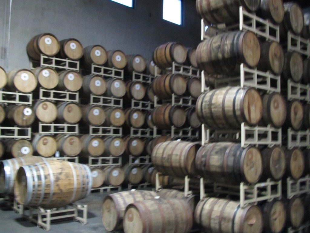 Barrel aging room at Deschutes Brewery in Bend, OR