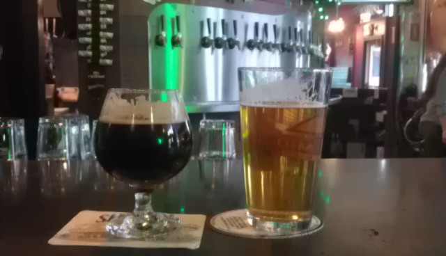 Laurelwood Moose & Squirrel Imperial Stout and Hopworks What the Helles?
