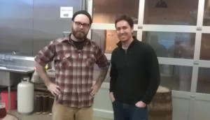 Brewers Sean Burke (left) and Mike Wright of The Commons Brewery