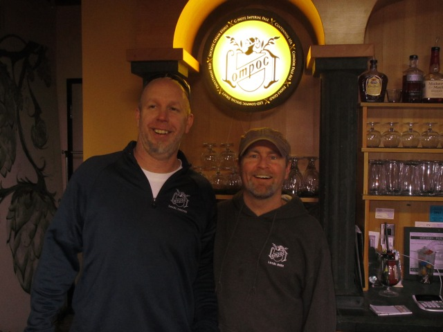 Lompoc owner Jerry Fechter (left) and head brewer Dave Fleming
