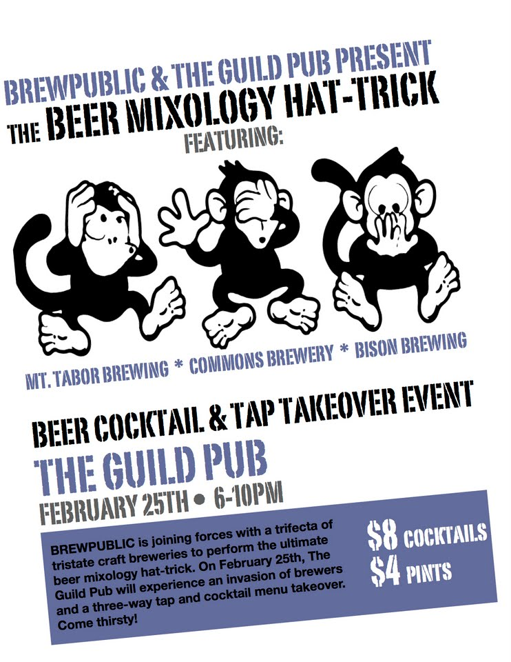 BREWPUBLIC & The Guild Public House Present The Beer Mixology Hat-Trick