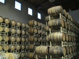 Barrel room at Deschutes Brewery in Bend, OR