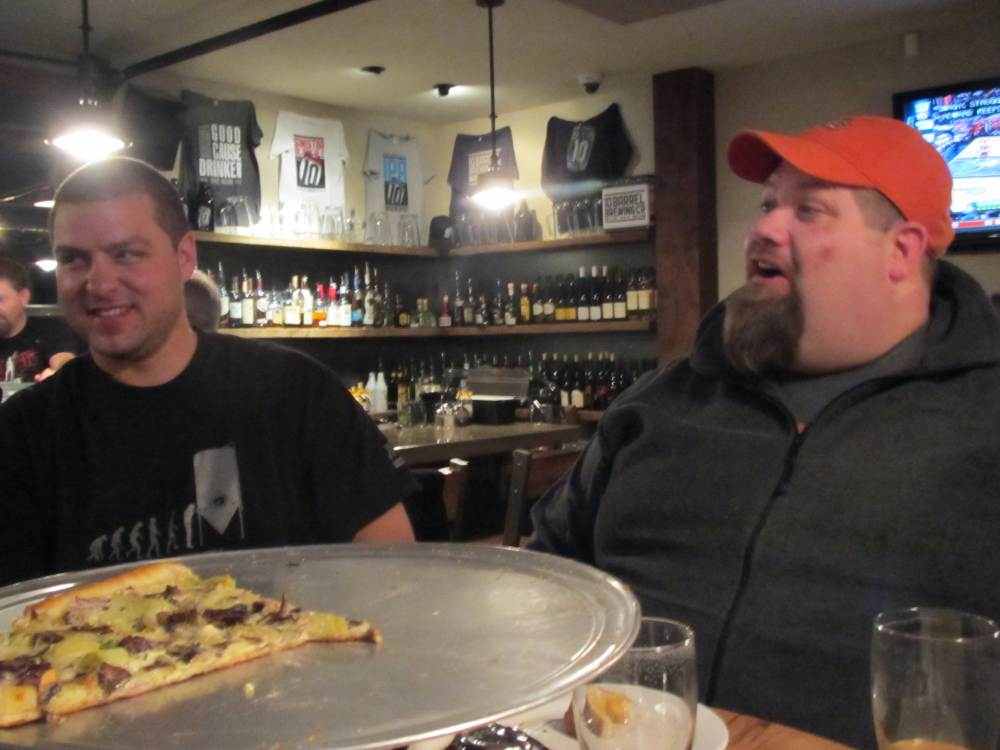 10 Barrel co-founder Chris Cox (left) and brewer Shawn Kelso at 10 Barrel Pub in Bend, OR