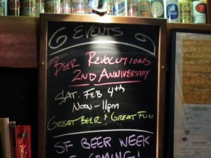 Beer Revolution 2nd Anniversary Saturday February 4, 2012