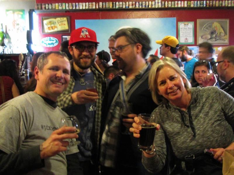 L to R: Duke Geren of Mt Tabor Brewing, Angelo Brewpublic, Arik aka @PhatEmoKid, and Taylor aka @TheArtofBeer
