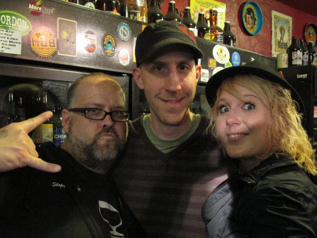 """L to R: New Brew Thursday's Stephen Johnson, Black Diamond Brewmaster Derek Smith, and Ashley """"The Beer Wench"""" Routson"""
