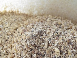 Crushed barley (photo by Stupid Brewing blog)