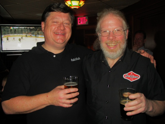 Full Sail Brewmasters Jaime Emmerson (left) and John Harris